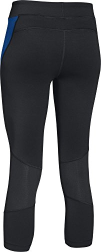 Under Armour 005 - Heat Gear Crop Pantalon pour femme - Noir, 2 x l