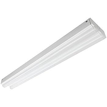Sunlite LFX/EC/2'/2/24W/E/W 2 Foot 1 Light 24 Watt 120-277 Volt LED Strip Fixture F17 Linear Fluorescent Replacement, White Finish
