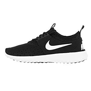 NIKE Women's Juvenate Sneaker, Black/White, 8.5 B US