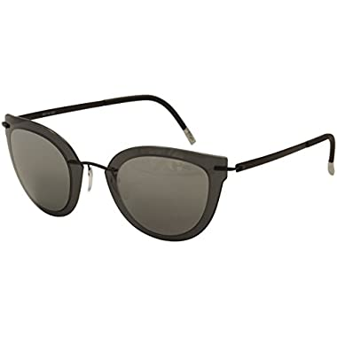 1410e09cfc7 Silhouette Explorer Line Extension 8155 6220 Grey Black Cat Eye Sunglasses  55mm