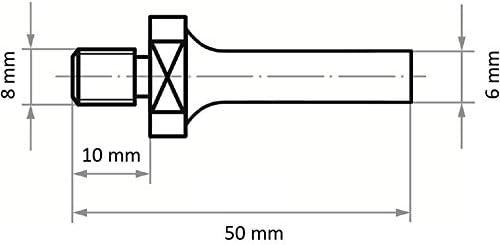 LUKAS Werkzeugaufnahme ASB für Werkzeuge mit Innengew. M8 Schaft 6 mm