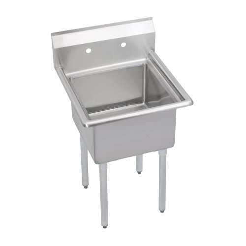 "Super Economy Scullery Sink, 1-Compartment 14"" Deep Bowl, No Drainboards, 23 (L) X 23.75 (W) X 45.75 (H) Over All"