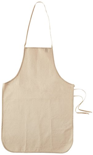 Mark Richards Wear'm Cotton Adult Apron, 19 by 28-Inch, Natural