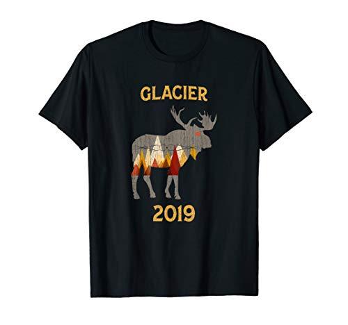 Glacier National Park 2019 Moose Gift T-Shirt