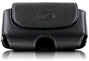 Wonderfly Horizontal Holster for Flip Phone or Smartphone Up to 4.25x2.25x0.85 Inch in Dimensions, a Leather Carrying Case with Belt Clip and Belt Loops