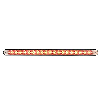 """United Pacific 36491 Black/Red 12"""" 19 Reflector Light Bar with Housing(Led/Clear Lens): Automotive"""