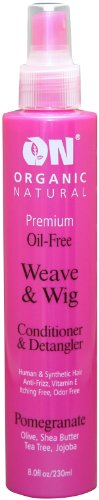 Wig Spray - ON Organic Natural Premium Oil-Free Weave & Wig Spray Pomegranate 2 oz.