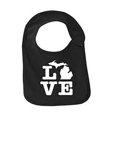 Michigan Love Funny Infant Jersey Bib Black One Size