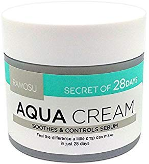 [RAMOSU] 28  Days Aqua Cream Soothing Hydrating Oil Control Facial Moisturizer | Anti Acne and Anti Aging