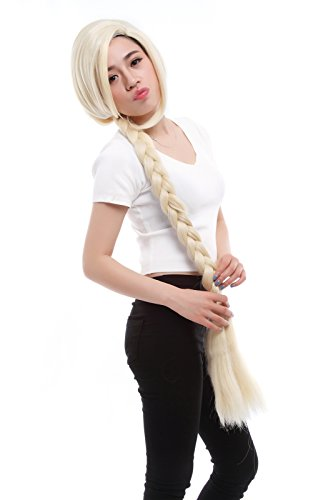 Price comparison product image Lemail wig Women's Long Blonde with Pigtails Costumes Full Wigs (Golden)