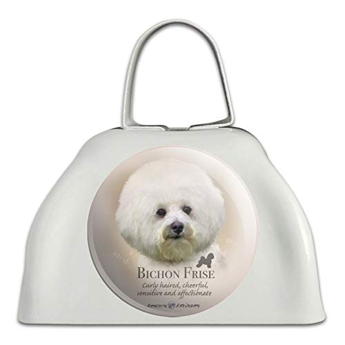 - Bichon Frise Dog Breed White Metal Cowbell Cow Bell Instrument