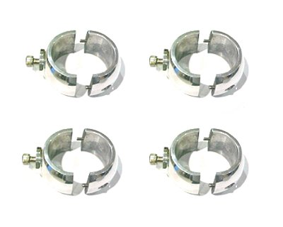 Dolphin T Top Center Assuage Electronics Box Mounting Clamps, Includes 4 x Anodized E Box Fishing Tower Mounting Clamps, Aluminum Ebox rings