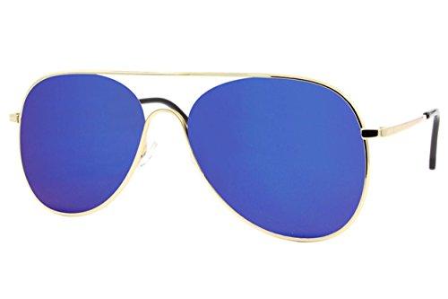 Femmes Argent Lunettes Or7 Or Bleu Cheapass de Soleil Aviator Miroitant Hommes 7I8dxPqqwp