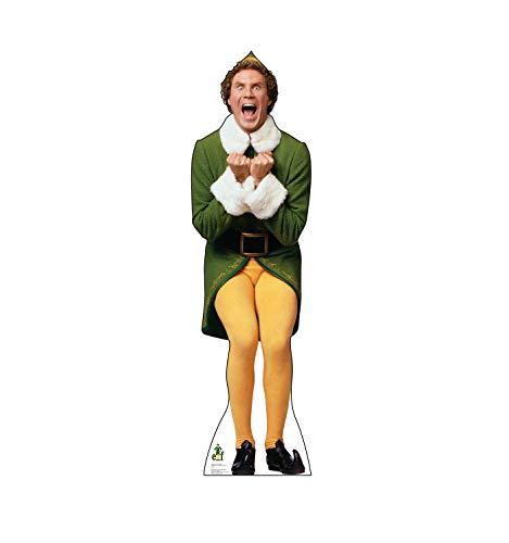 Advanced Graphics Buddy The Elf Excited Life Size Cardboard Cutout Standup - Elf (2003 Film)]()
