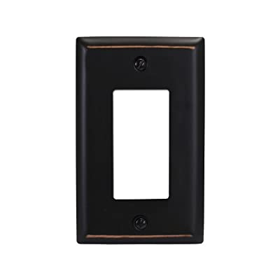 Amerelle 75RVB Madison 1 Rocker Wallplate, Aged Bronze
