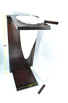 Ticoland Chorreador, Costa Rica Handmade Foldable Wooden Stand Coffee Maker, Included 1 Large and 1 Medium Reusable Cloth Filters Colador, Bolsa
