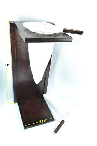 Colador, Bolsa Costa Rica Handmade Foldable Wooden Stand Coffee Maker Included 1 Large and 1 Medium Reusable Cloth Filters AlMahadin Trading El Plegable-100 Ticoland Chorreador