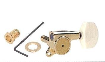 CLAVIJERO GUITARRA ELECTRICA/ACUSTICA - Gotoh (SG381 01) (Dorado) 3+3 Lubri (Coat+Rock) Solid: Amazon.es: Instrumentos musicales