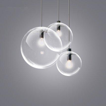 Lourpung Lampadario in stile moderno, con sfere in vetro trasparente ...