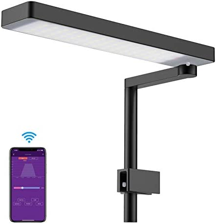 Chihiros C2 Full Spectrum Dimmable Aquarium LED Light with Bluetooth Controller Built-in, Suitable for Terrariums, Paludariums, and Nano Tanks Up to 18inch in Length