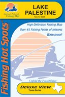 A430 Series - Lake Palestine Fishing Map (Texas Lake Series, A430)