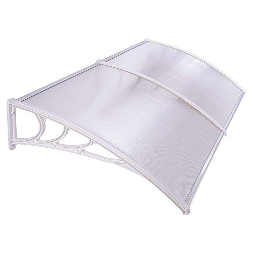 UV Protection Overhead Clear Outdoor Patio Awnings, Window Awnings – GC Global Direct 6.5FT, White