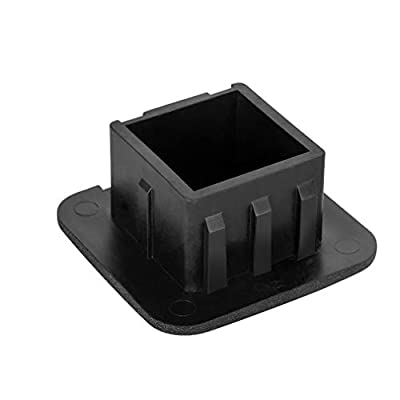 Hitechluxe Black Trailer Hitch Tube Cover Plug Cap Hitch Receiver Cap for Any 2