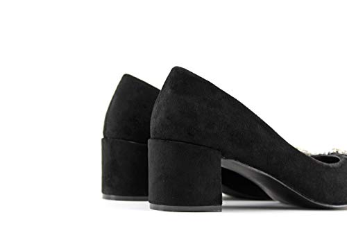 Tacón Negro Zapato Mujer Modelisa Medio ngAqZxppX