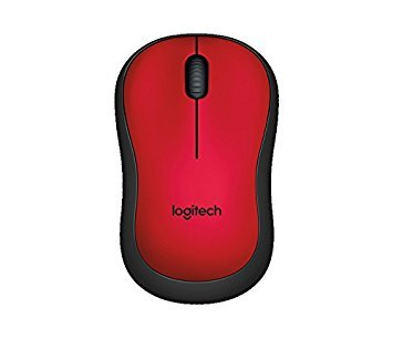 Logitech M221 SILENT Wireless Mouse with Nano Receiver Red Color -International Version- by Logitech