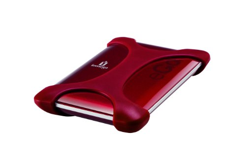 Iomega 500GB eGo Portable Hard Drive, SuperSpeed USB 3.0/USB 2.0 Ruby Red - 35312
