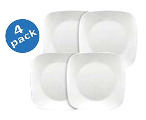 Corelle Square 10-1/4-Inch Dinner Plate, Pure White