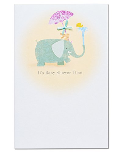 American Greetings Elephant Baby Shower Congratulations Card with