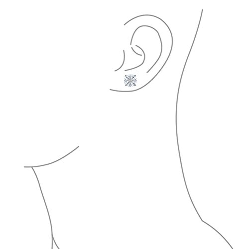 Bling Jewelry Boucles d'oreille rondes style solitaire pour Homme