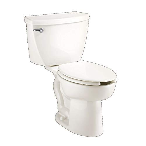 American Standard 2467.016.020 Cadet Right Height Elongated Pressure Assisted Two Piece Toilet, White by American Standard