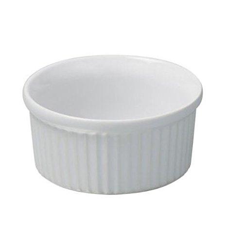 Parfait Cr/ème br/ûl/ée pack de 2 C/éramique blanche Ramekin 8cm x 3.5cm