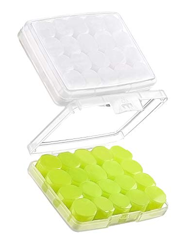 Mpow Swimming Ear plugs 20 Pairs for Kids, Soft Silicone Ear Plugs with 2 Carry Cases, 28dB SNR Noise Reduction Protective Earplugs, Water Blocking, Bpa-Free for Swimming, Showering, Bathing-Green
