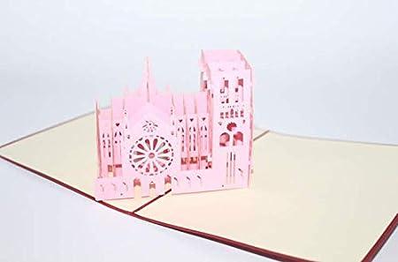 Notre Dame de Paris - Tarjeta de felicitación 3D, diseño de ...