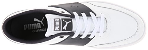 Puma Mens El Ace 4 L Spets-up Mode Sneaker Vit / Ny Marin