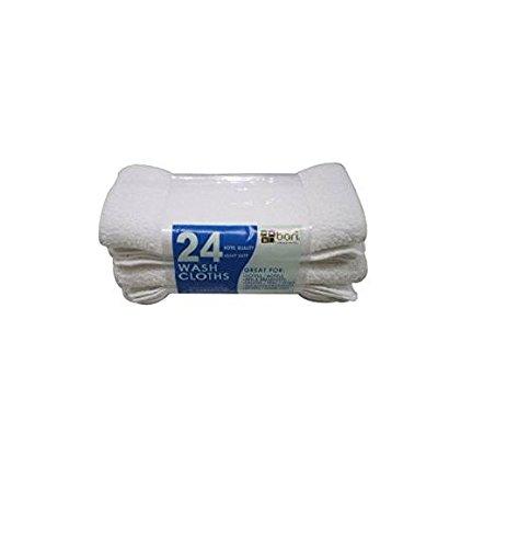 Washcloths - White - 12'' x 12'' - 24 pk. by Bari