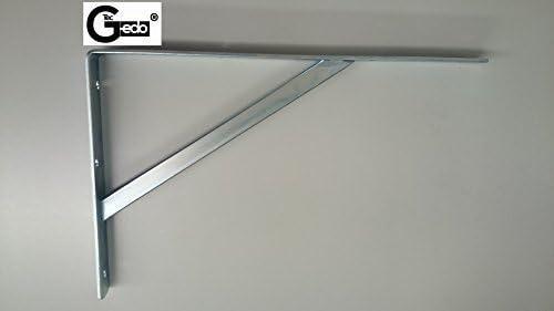 495 x 330 x 30 mm Acciaio argento RAL 9006 GedoTec/® Mensola di supporto Vettore di carico pesante Console di carico pesante ATHENA 3 Grandezze Acciaio Massiccio 3 Colori Forza portante 200-300 KG MADE IN GERMANY