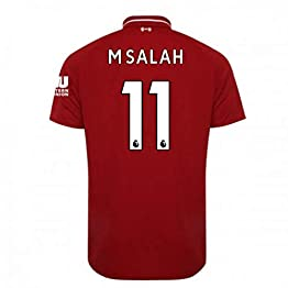 2018-2019 Liverpool Home Football Soccer T-Shirt Maillot (Mohammad Salah 11) - Kids
