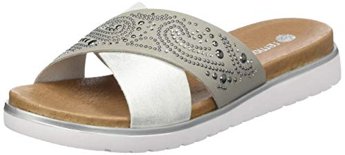 Para silver 90 Plateado D4050 Mujer Mules Remonte ice fwEx6HAWq