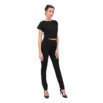 Neon Edge Black Skinny Fashion Joggers Pant For Women