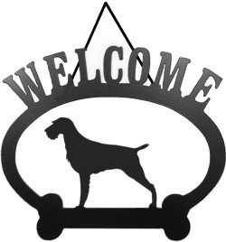 German Wirehair Pointer (Welcome Sign German Wire-Hair)