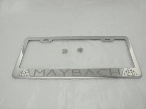 maybach-laser-engraved-chrome-license-plate-frame-with-caps-stainless-steel