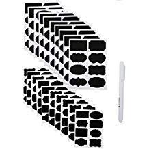 160 PCS Chalkboard Labels, Sackorange Pantry Stickers for JARS,Mason, Spice, Glass and Canisters, Large Reusable Waterproof Blackboard Vinyl Set, Dishwasher Safe with White Chalk - Stickers Black Chalkboard