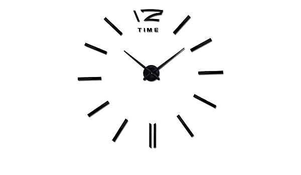 Amazon.com: Chitop Wall Clock Large Decorative Wall Clocks - Home Decor DIY Clocks Living Room Reloj Mural Sticker (Black) (37inch): Home & Kitchen