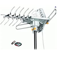 LAVA HD-2605 UHF/VHF HDTV Antenna with Remote Control, 2 TV Output Connectors, Rotate the Antenna with Remote Control