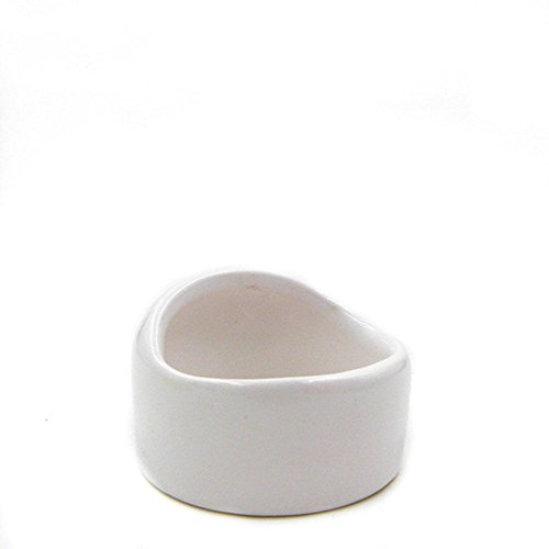 ANONE Ceramic Hamster Bowl No Spill No Turnover Food Water Dish for Guinea Pig Rodent Gerbil Cavy Small Animals (White) White Hamster