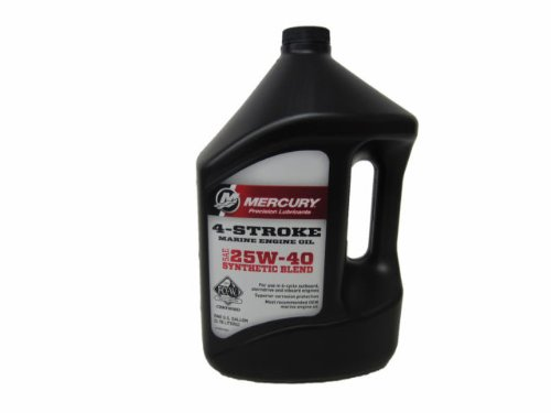 Mercury Outboard Engines Marine (Genuine Mercury 1 Gallon 4-Cycle Oil, Syn, Mpp - 8M0078630)